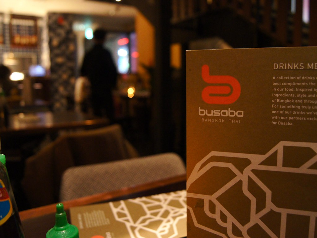 #datenight at the Printworks - Busaba menu