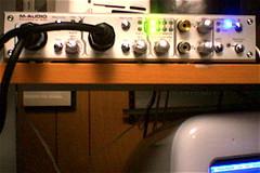 m audio firewire 410 details of a podcasting setup for lip flickr. Black Bedroom Furniture Sets. Home Design Ideas