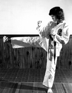 Joyce Thume Karate Pose | by thumeco