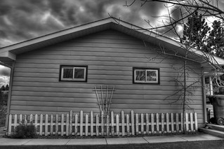 Side of the House HDR BW | by TylerKnott