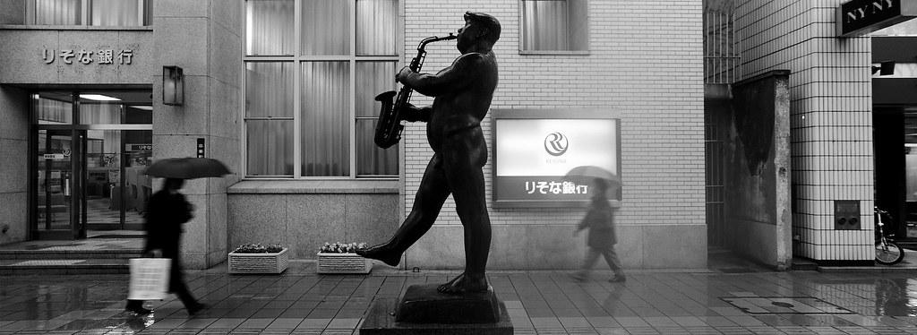 Himeji Sax Man Statue