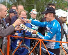 Popovych working the crowd