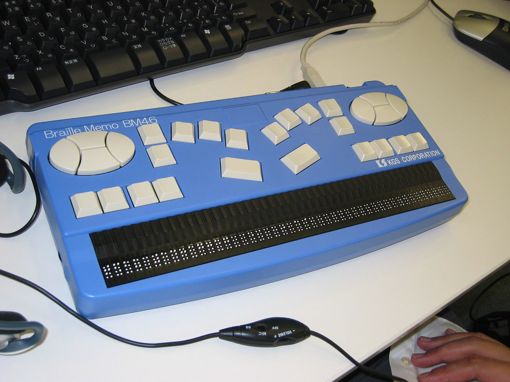 Braille Display Keyboard It S The First Time For Me To