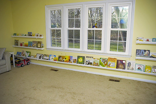 Rain gutter book shelves i saw this and thought genius for Plastic rain gutter bookshelf