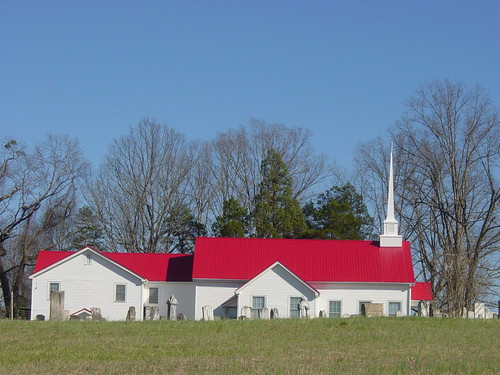 First Creek Baptist Church With Red Roof Sc 28 A Rural