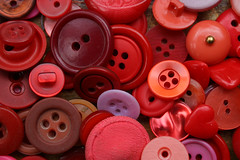 buttons, red | by chrisglass