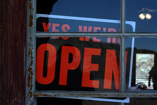 YES WE'RE OPEN | by Leo Reynolds