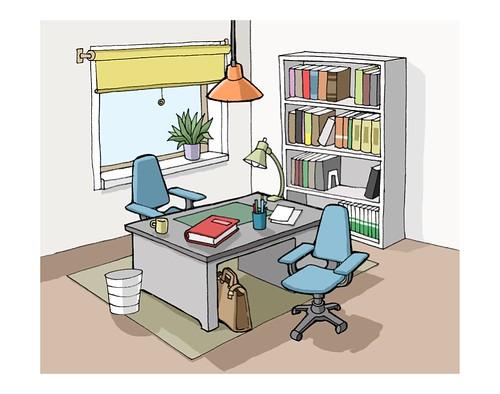 Arbeitszimmer Illustration Fur Das Online Projekt Der Deut Flickr