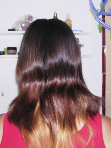 Brown hair black underlayer