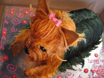 Yorkie Cake Gumpaste And Buttercream Debbie Goard Flickr