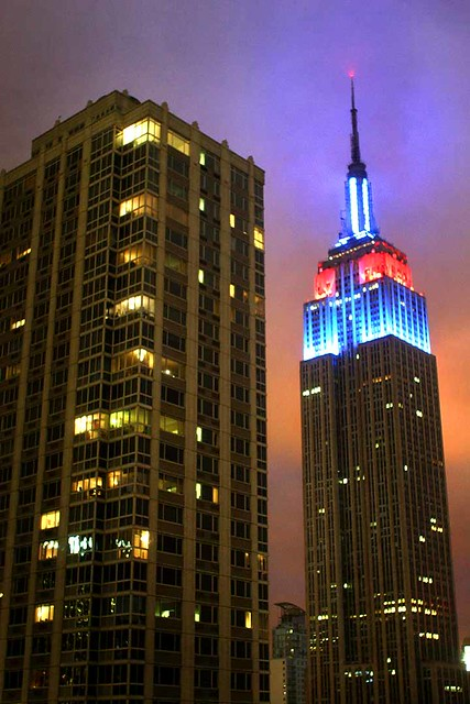 Americana empire state building a night view from my for Americana hotel nyc