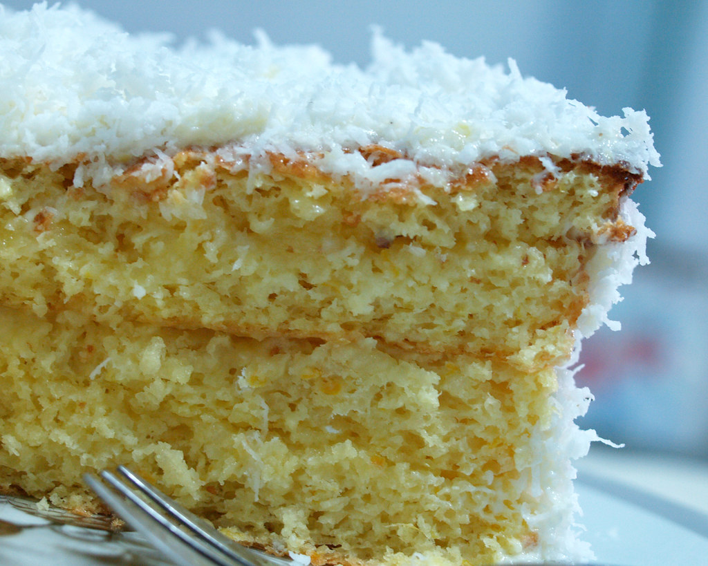 Coconut Cake With Dark Chocolate Frosting