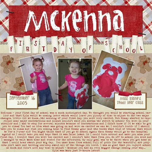 McKenna's First Day of School | by Shannon Bieger