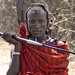 Masai warrior with wristwatch