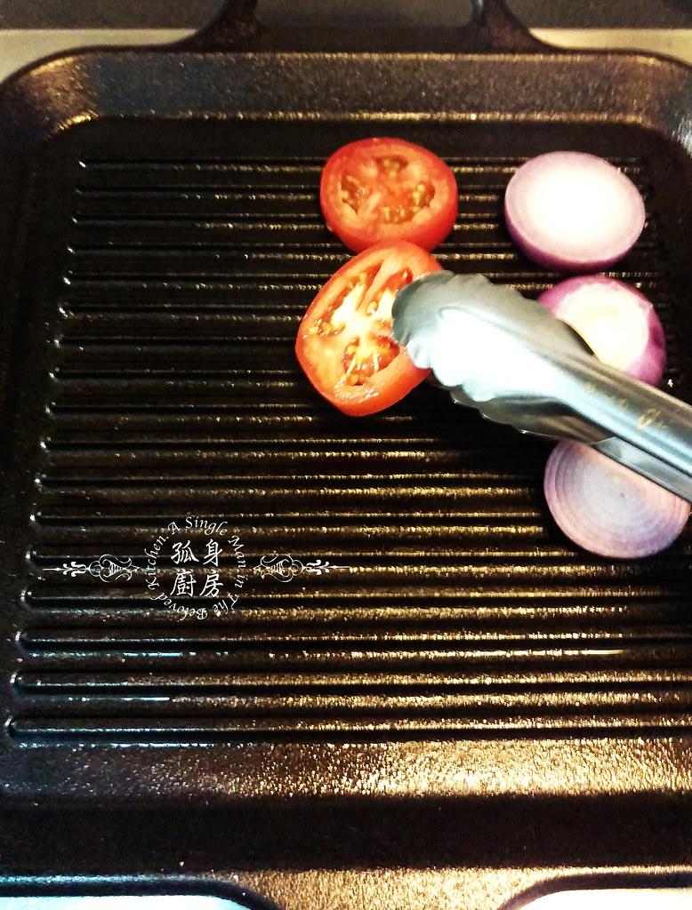 孤身廚房-地中海風味烤黑喉魚佐鑄鐵烤盤烤蔬菜6