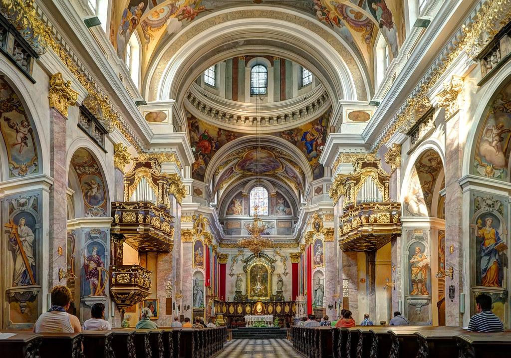 Ljubljana Cathedral Interior Of The Ljubljana Cathedral