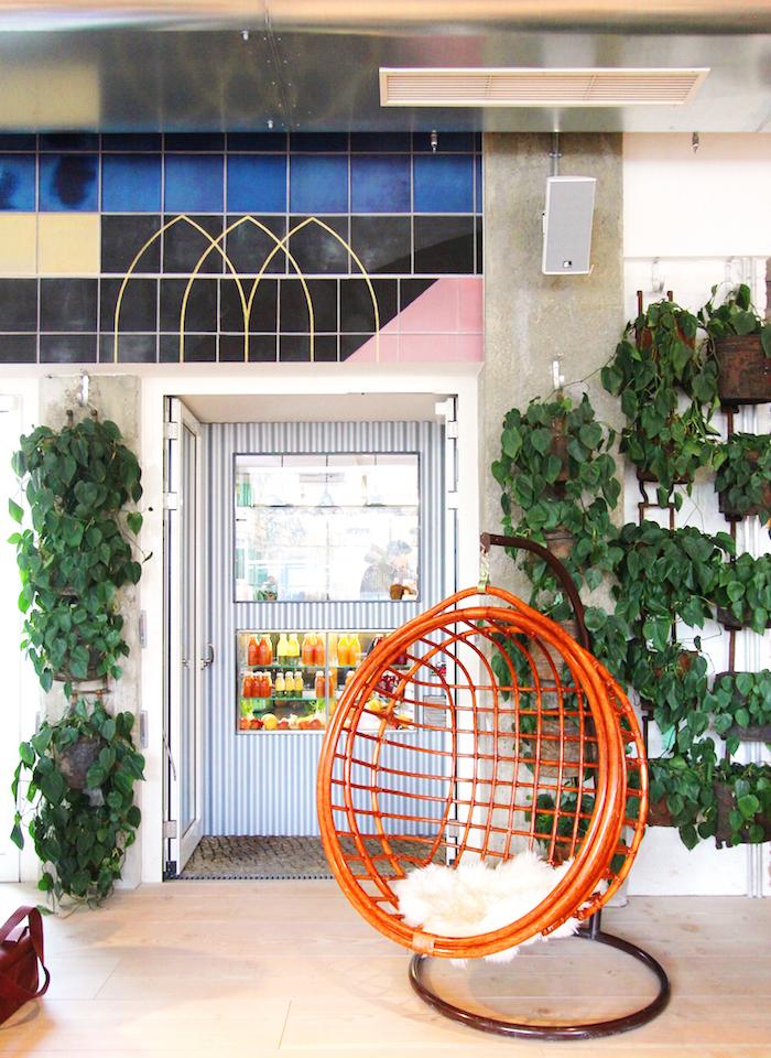 The Store Soho House Berlin rattan swing chair