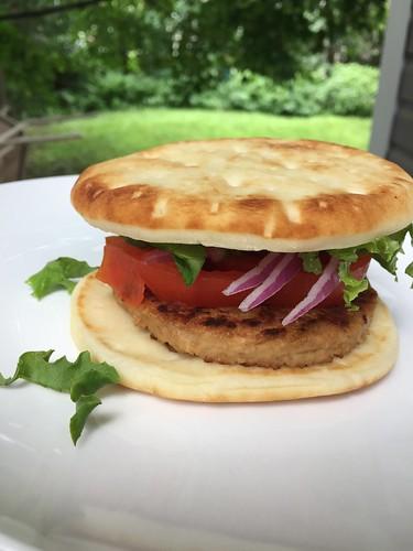 June 21 #dailylunches - veggie burger