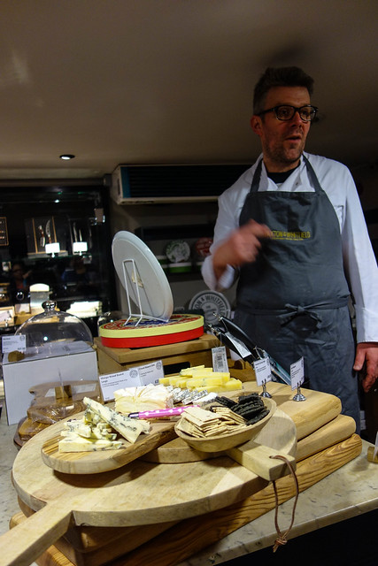 Tasting lovely cheeses