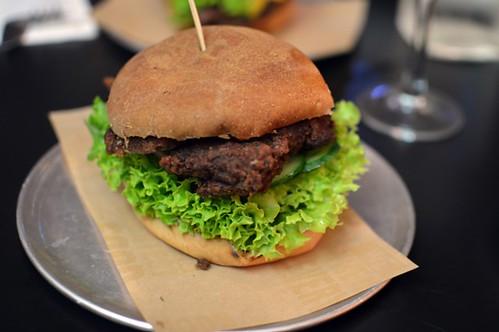 Chicken karaage burger