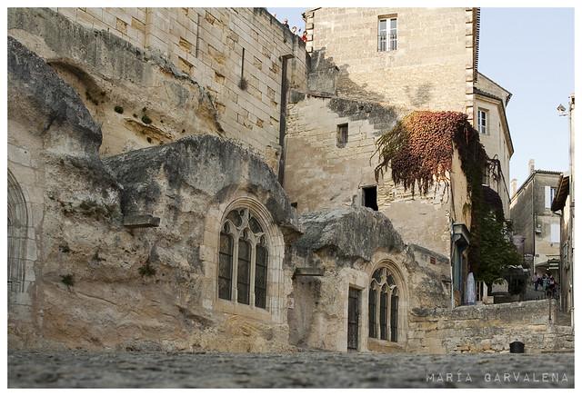 Saint Emilion - Plaçe marche et les tertres