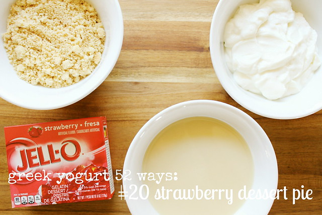 greek yogurt 52 ways: # 20 strawberry dessert pie