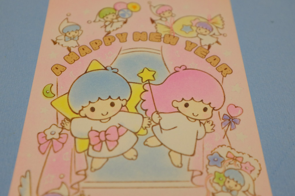 little twin stars a happy new year card by my
