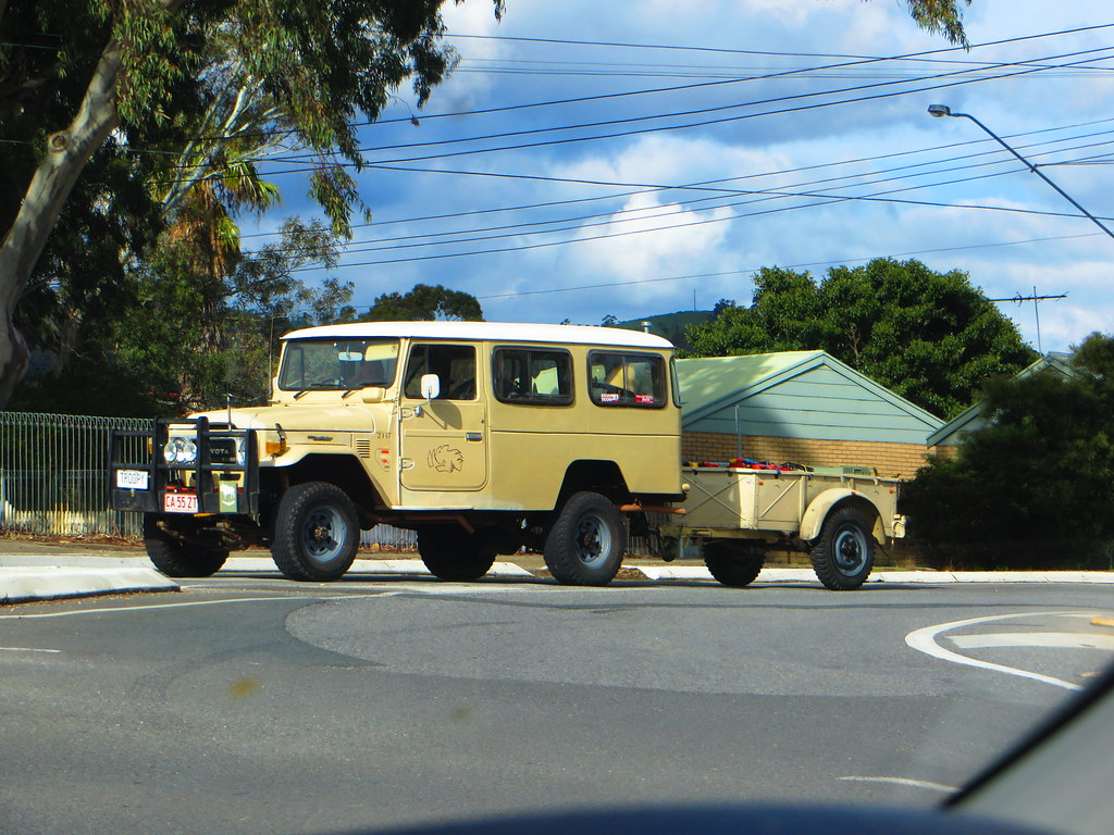 ... Old Toyota Land Cruiser And Trailer | By RS 1990