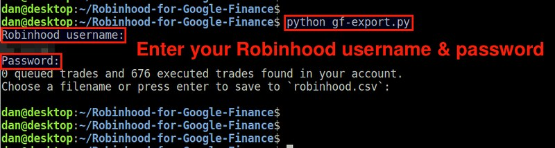 How to export Robinhood transaction data - Ask Xmodulo
