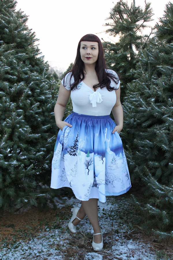 unique vintage swing skirt winter kingdom