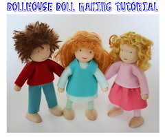 Dollhouse Doll Tutorial Pattern PDF - Giveaway