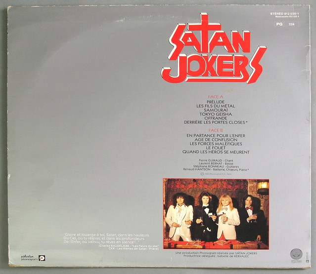 "SATAN JOKERS - LES FILS DU METAL 12"" LP VINYL"