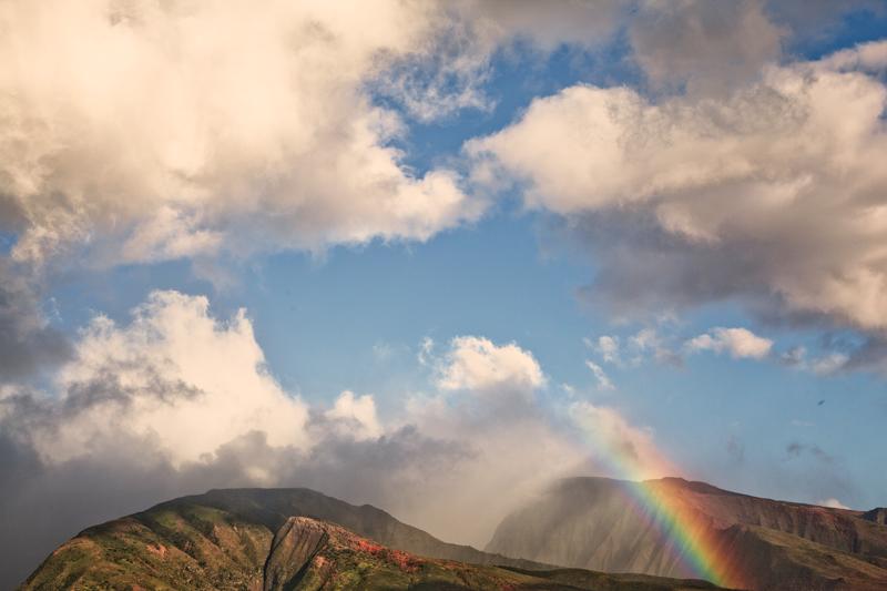 rainbow in lahaina