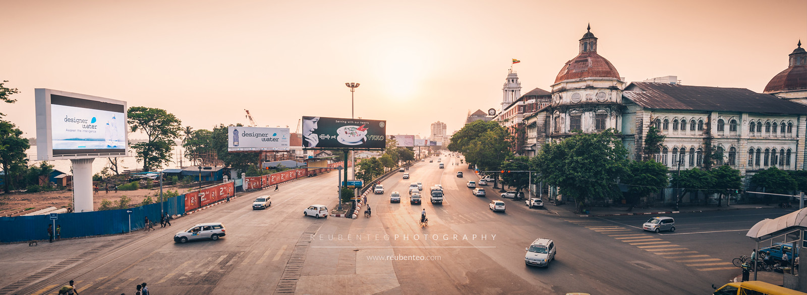 Yangon city at Sunset