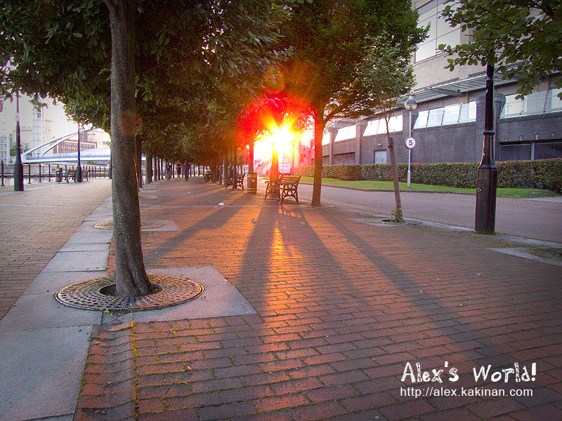 Sun Burst at Salford Quays