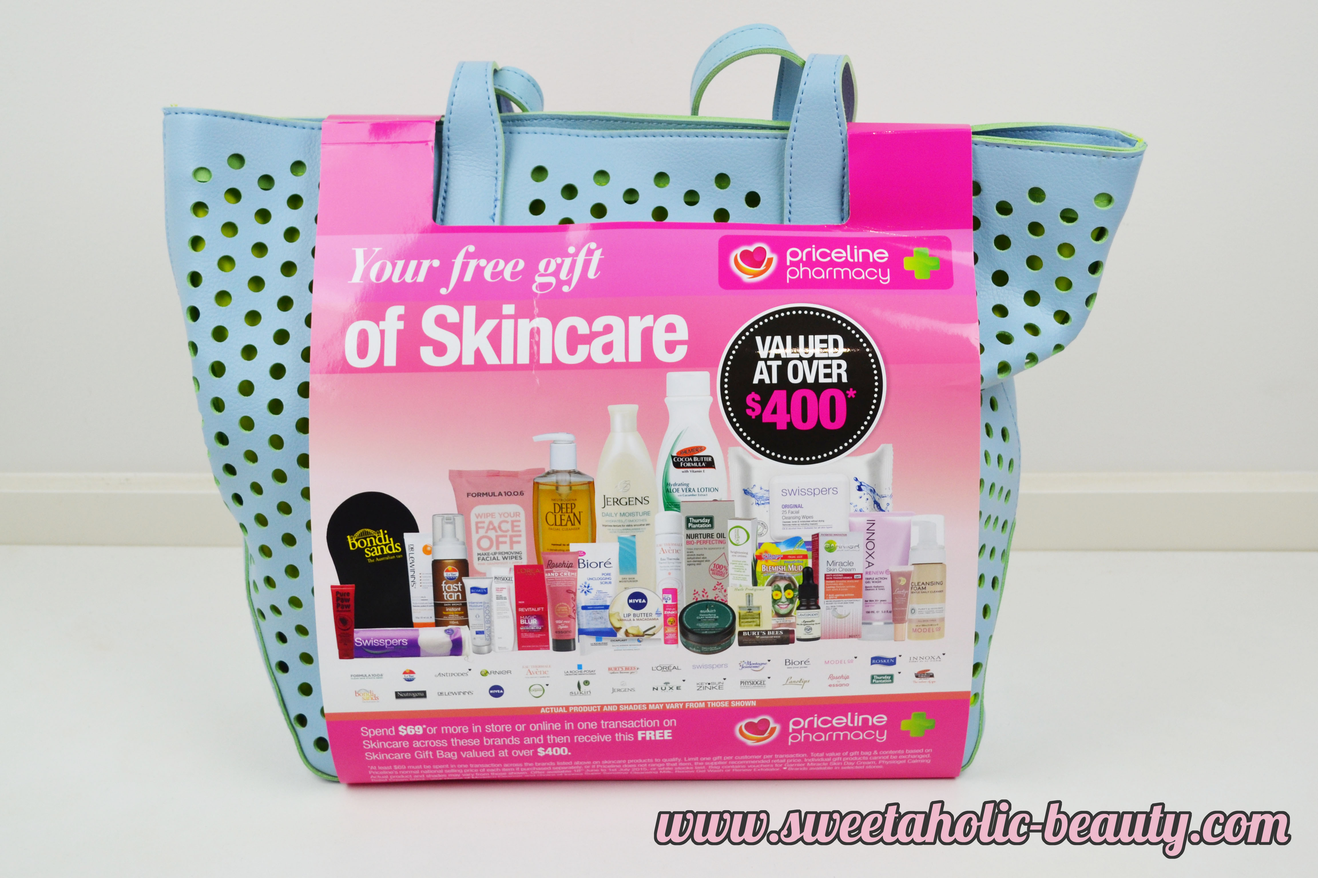 Priceline Skincare Bag 2015 - Review