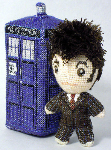 Doctor Who 3D cross stitch patterns by Robins Design - David Tennant