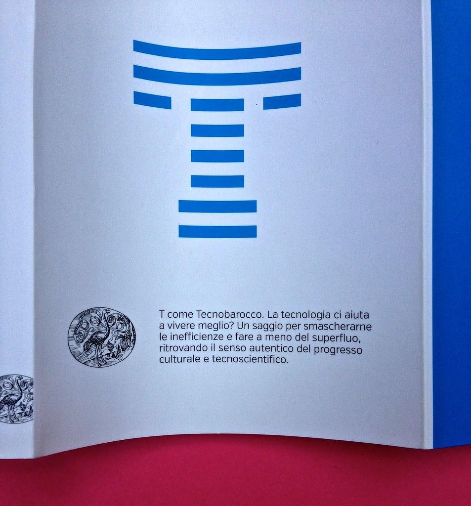 Mario Tozzi, Tecnobarocco. Einaudi 2015. Responsabilità grafica non indicata [Marco Pennisi]. Dorso, copertina, bandella di copertina (part.), 1