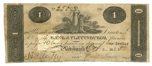 Bank of Plattsburgh One Dollar note