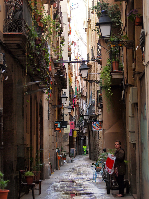 Street in Barcelona's El Born neighborhood