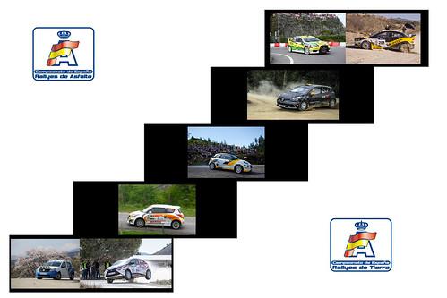 Escalones Competición Rallyes Campeonato España Asfalto Tierra 2015