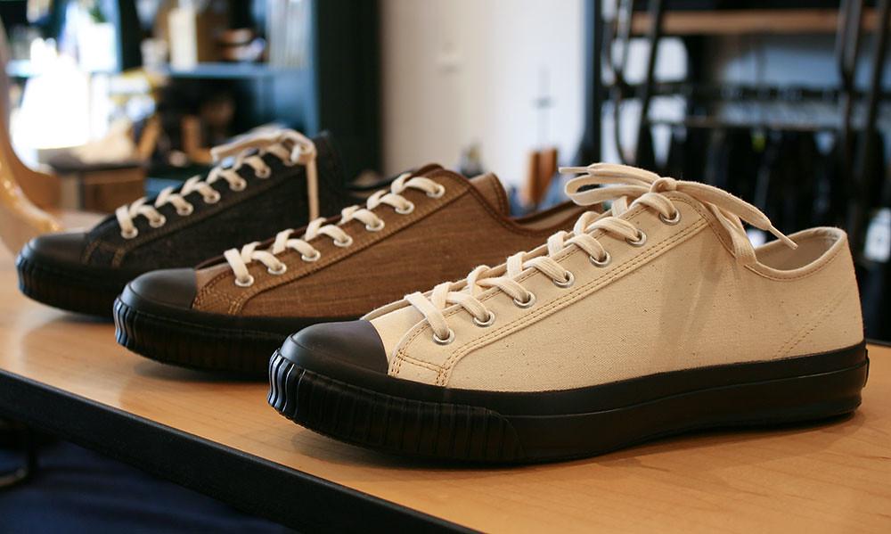 6f0f684f8cf5c Lofgren sneakers on display on top of S   S s boot rack.