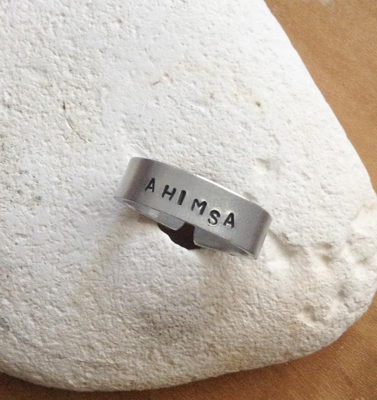 Ahimsa Ring by Love Libby X on Etsy