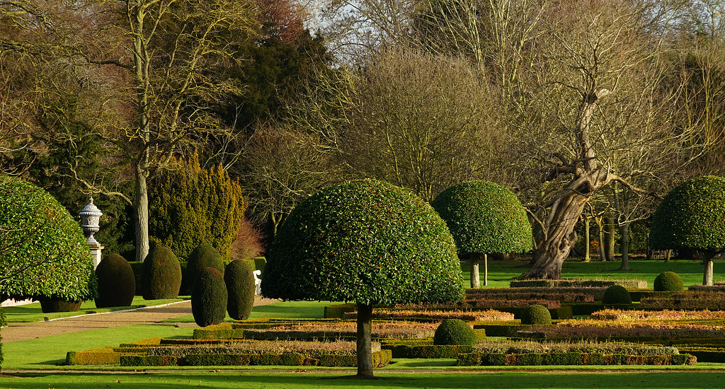 The parterre at wimpole on a sunny winter 39 s day for Parterre 3d