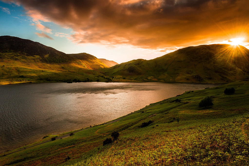 Buttermere Lake Sunset