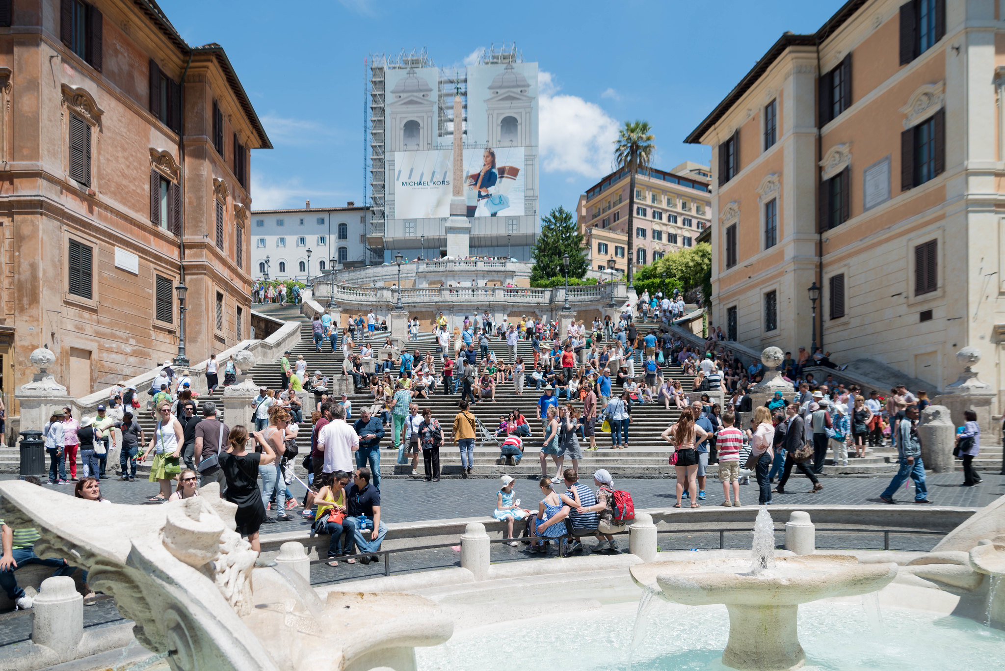 A more crowded spanish steps Rome italy