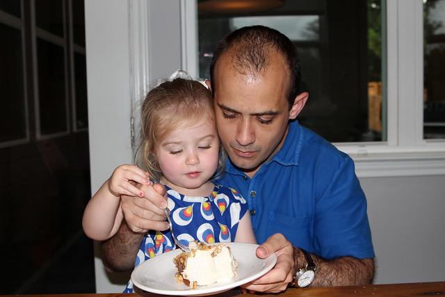 Sharing birthday cake