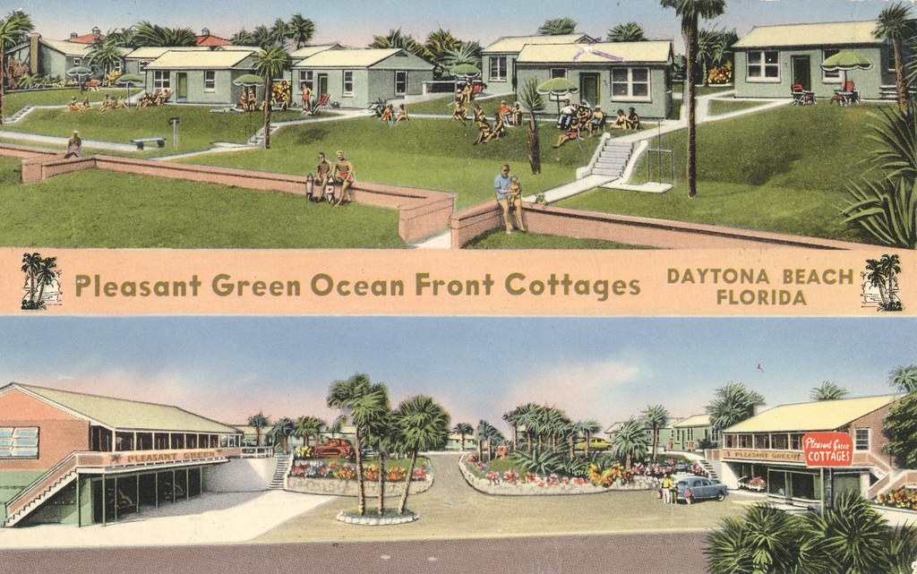 Pleasant Green Ocean Front Cottages - Daytona Beach, Florida