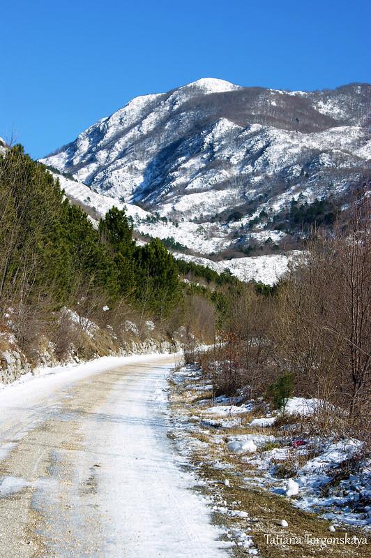Дорога из Камено в Боричи