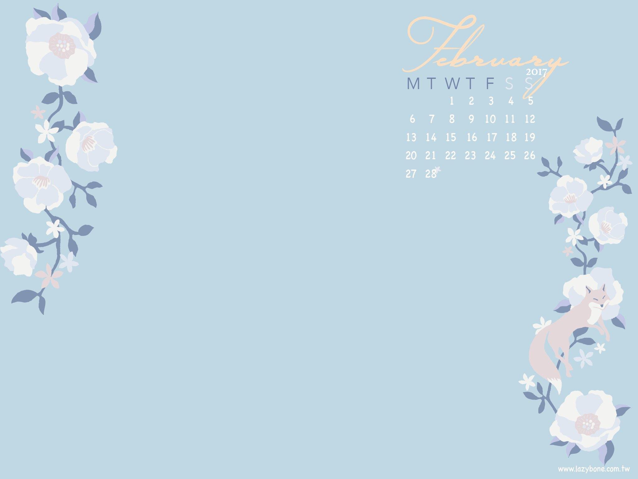 February Calendar /二月桌布! - Lazybone